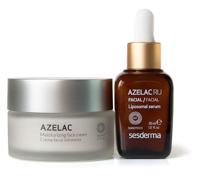 увлажняющий крем Azelac Moisturizing Facial Cream и липосомальная сыворотка Azelac Ru Liposomal Serum